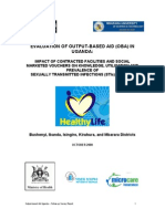 Evaluation of the output based approach in Uganda