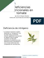 Deficiencias nutricionales en tomate