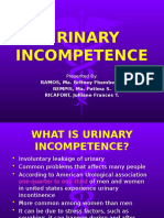 URINARY INCOMPETENCE