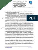 RCO N° 132-2020-CO-UNJ  LINEAMIENTOS PARA LA SUSTENTACION VIRTUAL DE INFORME FINAL DE TESIS