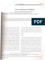 Nasopharyngeal Carcinoma in Children