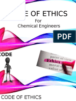 CHE181 - Code of Ethics for Chemical Engineers