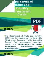 CHE181 - DTI Investment Guide