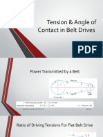 Lec 08, Tension & Angle of Contact in Belt Drives