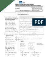Cálculo C - Lista de Exercícios 04 - 2017-10-16 - Exata e Não Exata - Fator Integrante 1