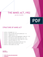 The Mines Act,1952