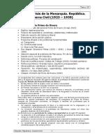 Tema 39 España; Crisis de la Monarquía. República. Guerra Civil (1923 – 1939)