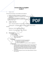 Lesson Plan in English- FOR ENG. 4