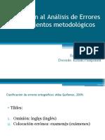 8. Procedimientos metodológicos - Errores ortográficos