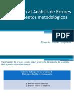 7. Procedimientos metodológicos - Errores léxicos