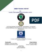 Shantanu Summer Training Report Modified