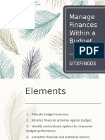 SITXFIN003_Manage Finances With In The Budget NEW