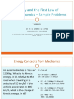 THERMO1 - 2 Energy and the First Law of Thermodynamics - Sample Problems.pdf