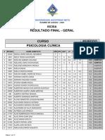 PSICOLOGIA CLÍNICA (REGULAR) - GERAL NORMAL_NOME