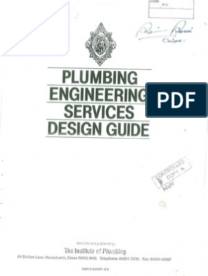 Plumbing Engg Services Design Guide 1