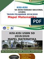 1. KISI-KISI USM MATEMATIKA 2020 -SGRT