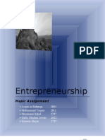 Entrepreneurship Assignment