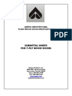 Wood Door Submittal Sheets