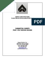 Wood Door Submittal Sheets