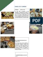 RECOMENDACIONES DE COMIDA