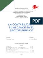 LA CONTABILIDAD Y SU ALCANCE EN EL SECTOR PÚBLICO