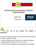 Integration by Miscellaneous Substitution