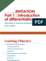 Differentiation part 1 introduction