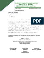 surat Permohonan Bantuan dana pengajian