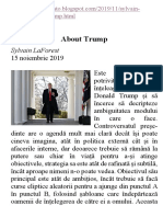 Sylvain LaForest - Despre Trump