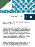 CURS 2 - generalitati