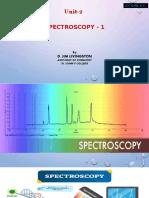 Spectroscopy I