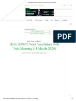 Daily DAWN News Vocabulary with Urdu Meaning (11 March 2020)