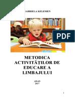 Suport de curs -Didactica educării limbajului 2017