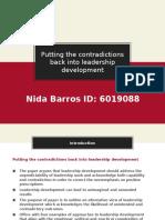 Nida Barros - Putting the Contradictions Back Into Leadership Development Slide