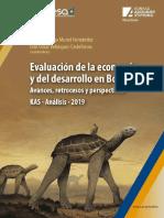 EVALUACIÓN DE LA ECONOMIA Y EL DESARROLLO EN BOLIVIA 2019
