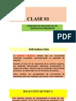 CLASE 03 CAPACIDAD DE REACCION