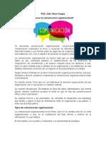Unidad III Comunicación Organizacional