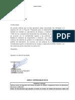 Carta de recibido productos empresa
