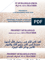 Prophet M. as a Teacher.ppt
