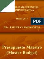 PRESUPUESTO MAESTRO