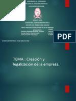 Creación y legalización de la  empresa.pptx