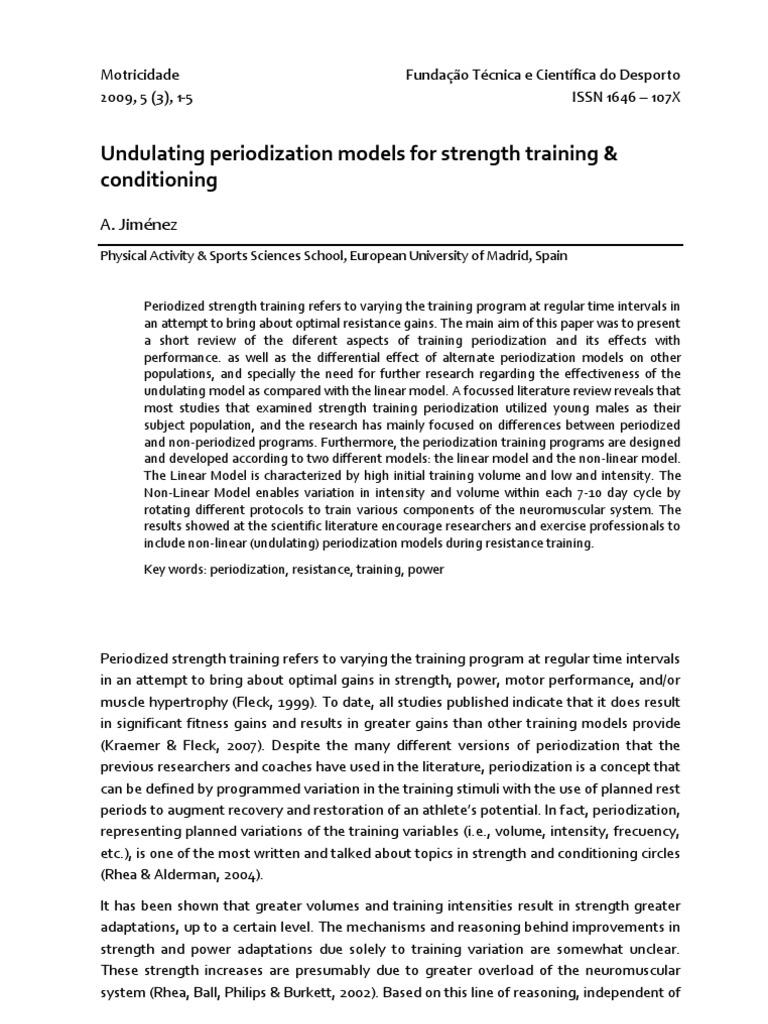 Undulating Periodization Strength Training Self Care