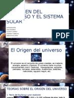 origen del universo y sistema solar