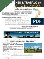 Programa Working Holiday NZ