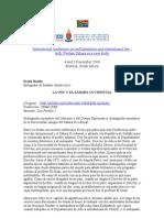Conferencia Internacional Sobre El Multilateralismo y El Derecho Internacional - Conferencia Frank Ruddy