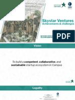 Skystar Ventures Tech Incubators & Collaborative Space| Achievements & Challenges