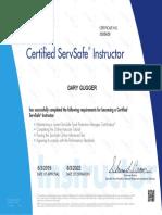 servsafe instructor certificate