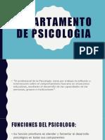 DEPARTAMENTO DE PSICOLOGIA