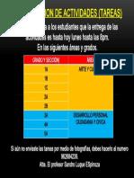 PRESENTACION DE ACTIVIDADES (TAREAS)