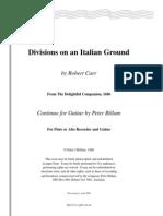 """Division on Italian Ground""    per Flauto e Chitarra"